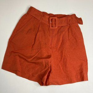 NWT A New Day Orange High Rise Belted Shorts